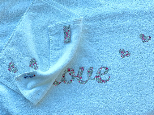 Towels with Hand Sewn Word - LIBERTY