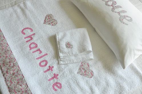 Towels with Hand Sewn Personalisation & Motif - LIBERTY