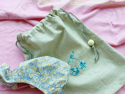 Swim Bag * Linen Coating with Liberty Pattern