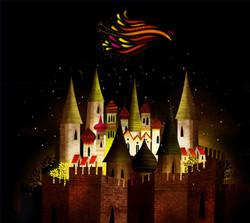 Firebird  over Kastchei castle