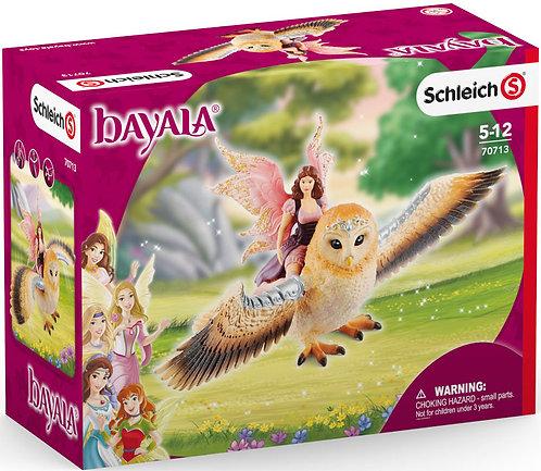 Schleich Fairy on Glam Owl