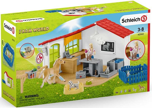 Schleich Veterinarian Practise with Pets