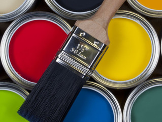 Selection of emulsion paints