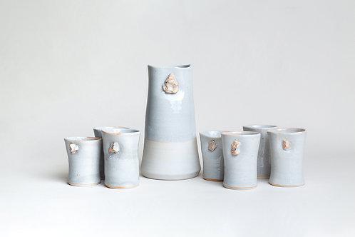 Set Jarro Porcelana Blanca