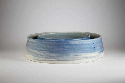 Fuentes Grandes Porcelana Jaspeada Azul