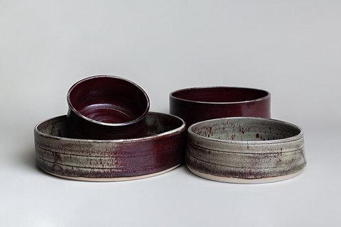 Set Fuentes Porcelana Roja