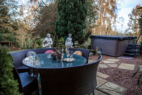 Hot Tub with Table and Chairs