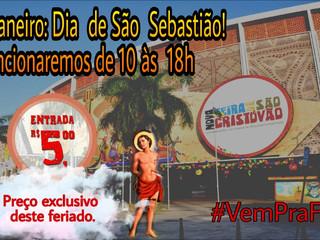 Feira aberta no feriado de São Sebastião