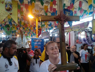 Imagem peregrina de Nossa Senhora de Nazaré na Feira de São Cristóvão