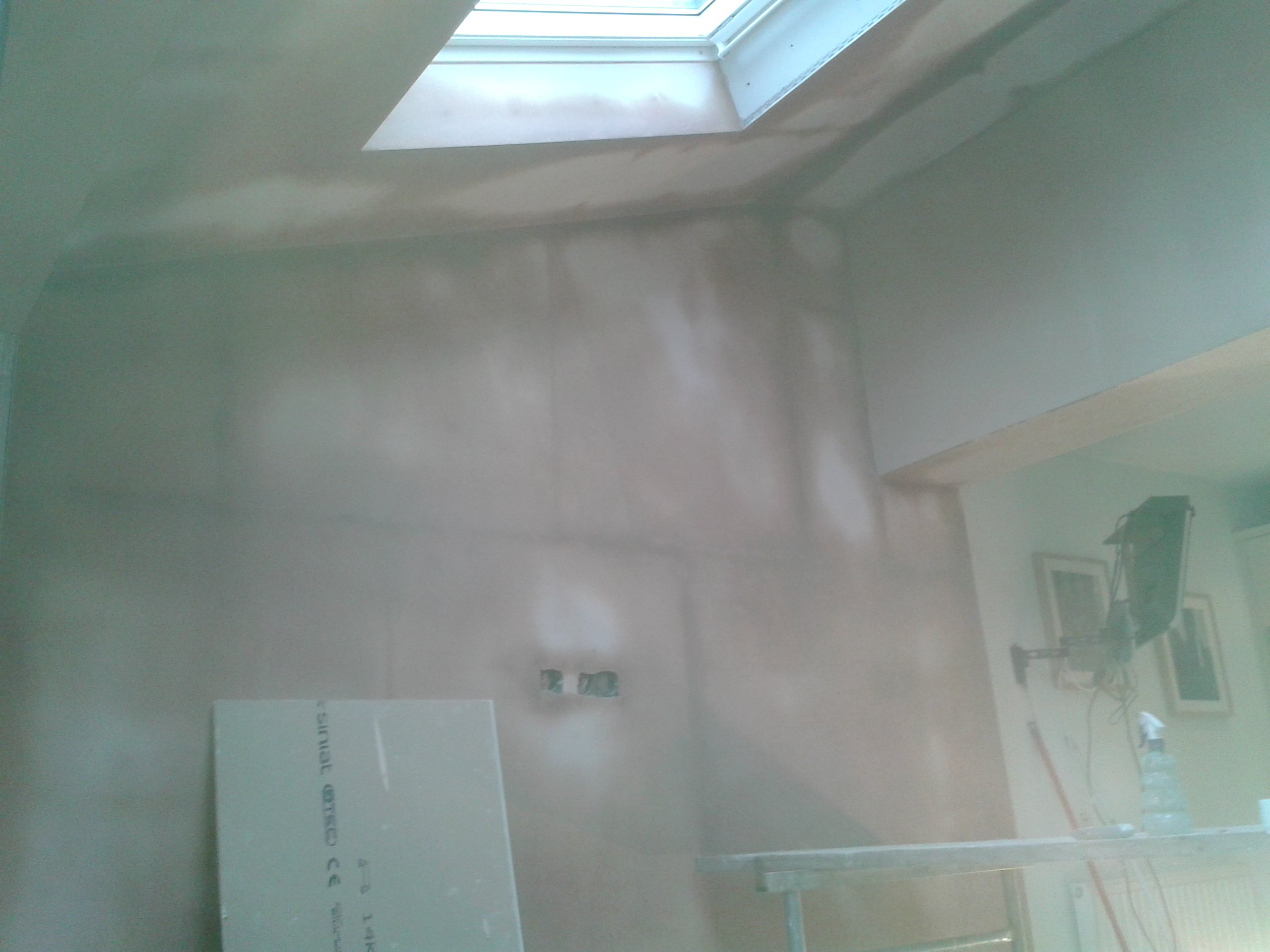 Extension plastered Cheshire