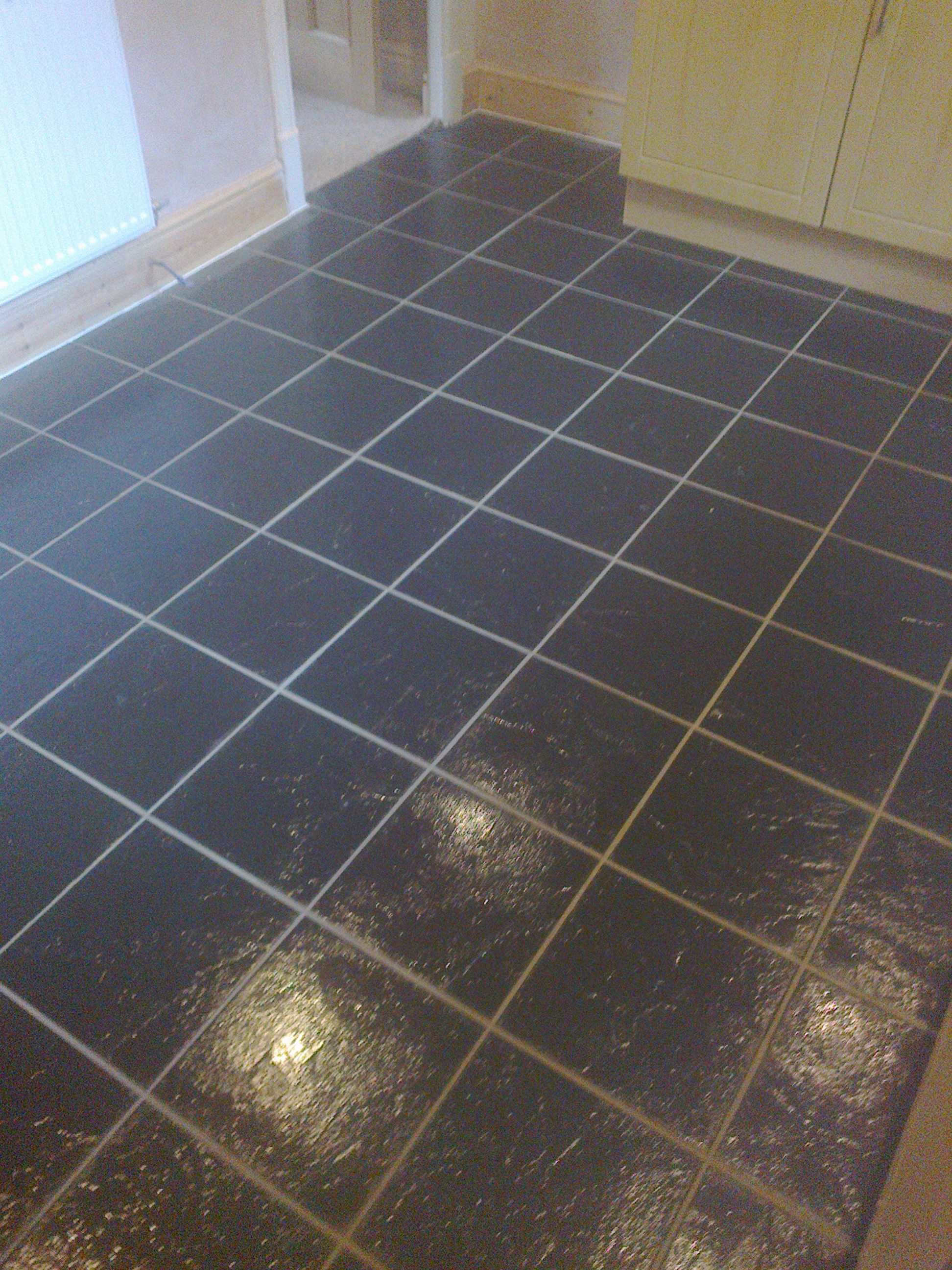 Kitchen floor tiled