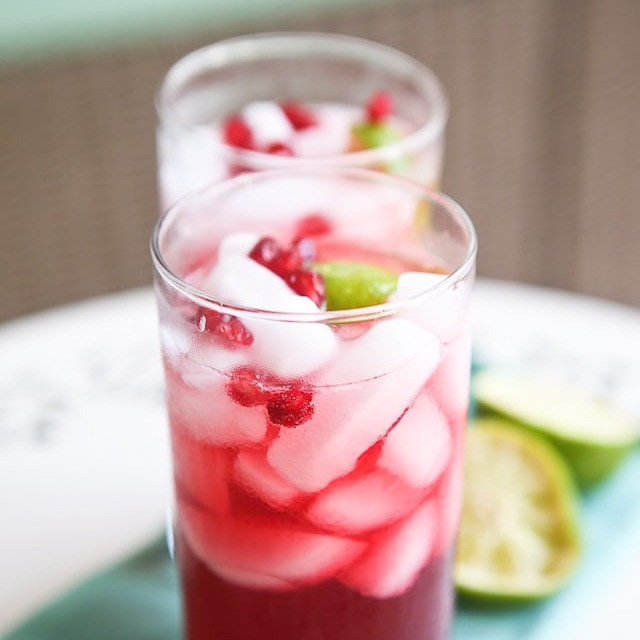 Pomegranate Rum Cocktail