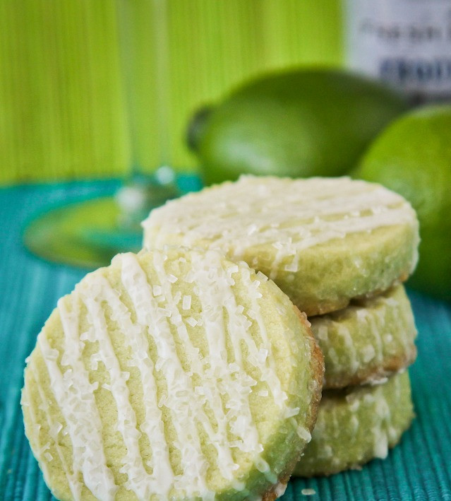 Margarita Cookies with Tequila Icing
