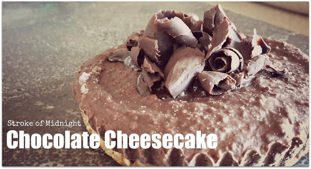 Chocolate bourbon Cheesecake