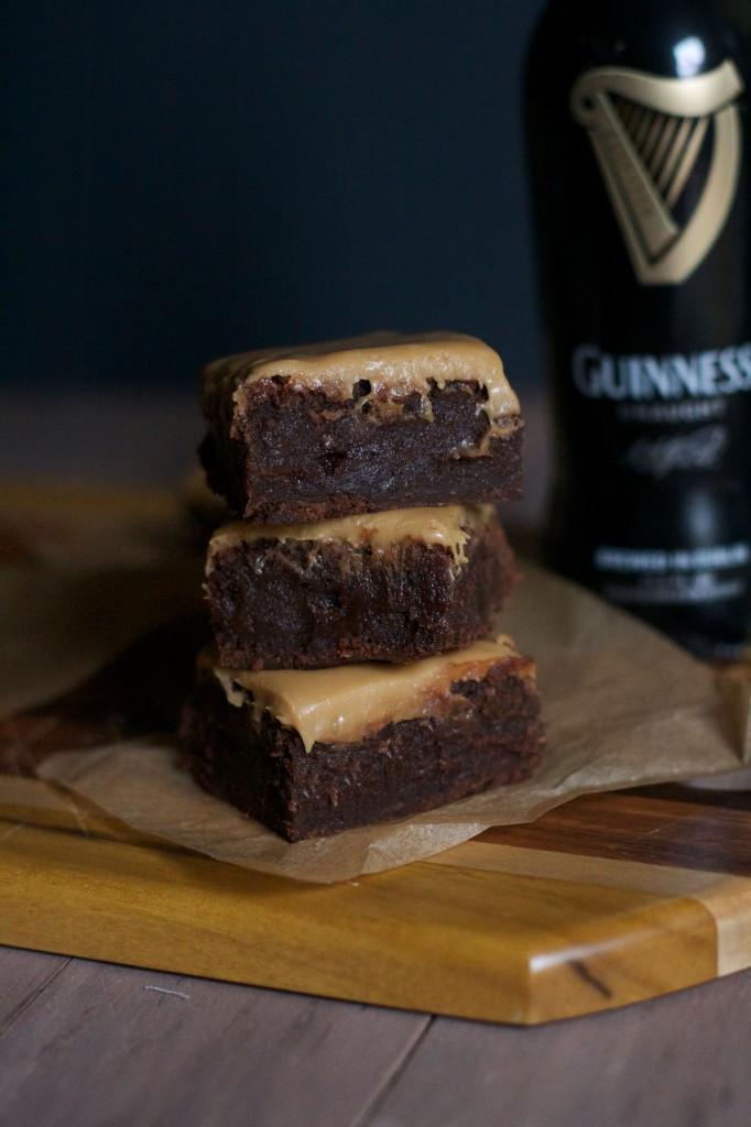 Fudgy Guinness Beer Brownies