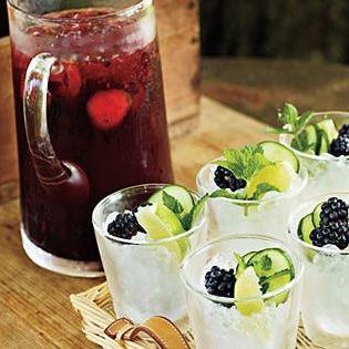 Blackberry Cucumber Cocktail