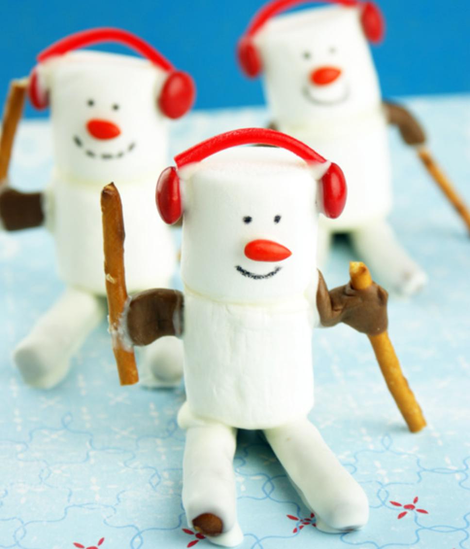 Marshmallow Skiers