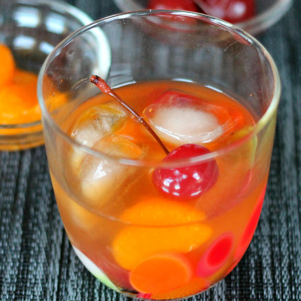 Mandarin Old Fashioned Cocktail
