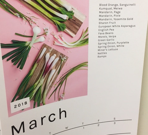 March Seasonal Fruit and Vegetables Calendar