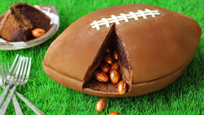 Game Day football cake