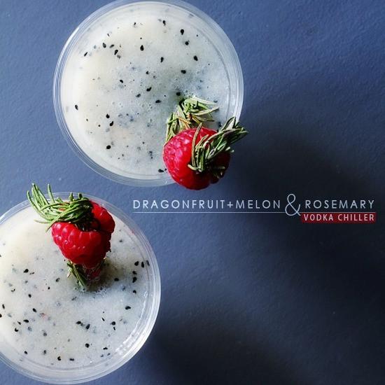 Dragon Fruit Melon Rosemary Vodka Chiller