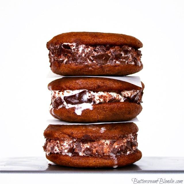 Nutella Frangelico Ice Cream Sandwiches