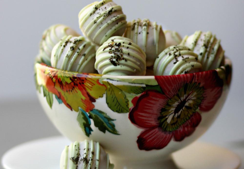 Mint Julep Twisted Truffles