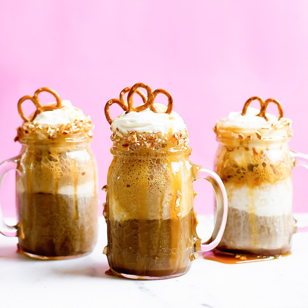 Boozy Salted Caramel Pretzel Root Beer Float