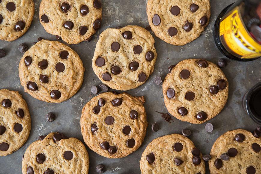 Boozy Kahlua Chocolate Chip Cookies