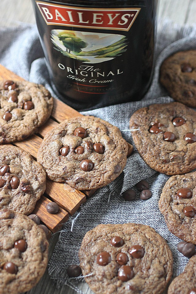 Bailey's Irish Cream Chocolate Chip Cookies