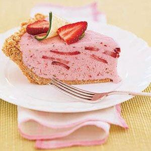 Frozen Strawberry Margarita Pie
