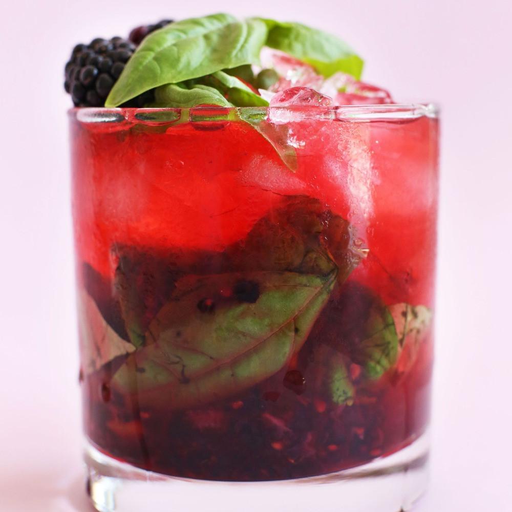 Blackberry Basil Mojito