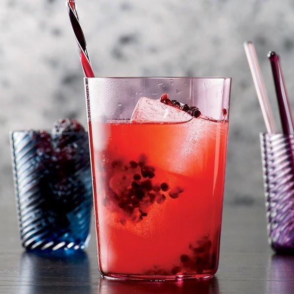Bourbon Blackberry Collins