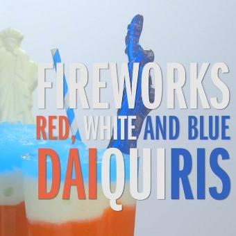 Red White and Blue Daiquiris