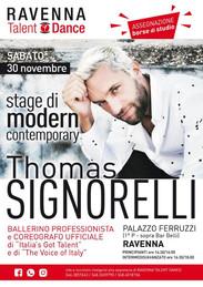 Stage con il ballerino professionista e coreografo ufficiale di Italia's got Talent e The Voice of Italy, Thomas Signorelli