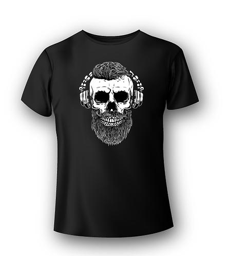 T-Shirt Deejay - Hipster Beard DJ