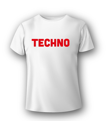 T-Shirt Deejay - Techno Red