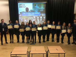 Year 8 Trocaire Public Speaking Competition
