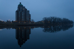 Blue Foggy Hartford Morning