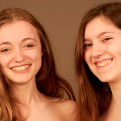 Steph and Rachel E without make-up