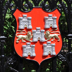 City coat of arms at Abbey Gardens