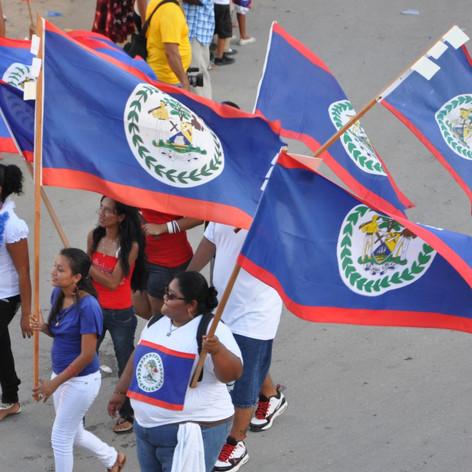 Independence Day parade, San Ignacio