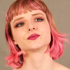 Helena with make-up