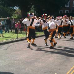Morris dancers often perform in Winchester