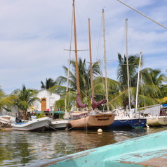 Sailing boats, Placencia