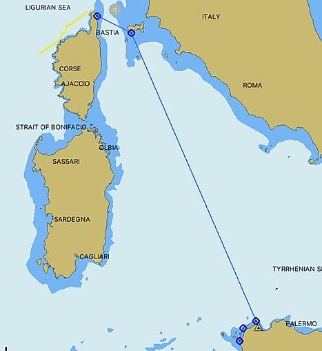 Corse Elbe Sicile