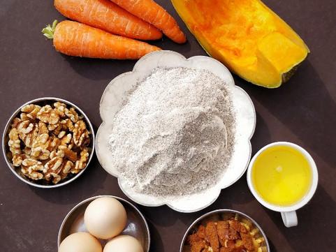 Buckwheat (Fapar) and Carrot/ Pumpkin Cake