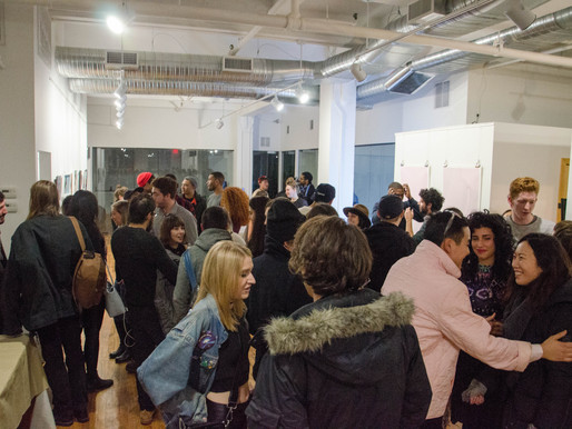 Love Art Show Opening Night At QNS Collective