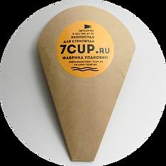 картонный рожок держатель для гонконгских вафель на вынос