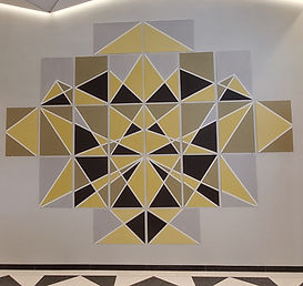 Chakana 2019. Commissioned public art work by Newark Arts, for Walker House, 12 Lombardy Street Lobby, Newark NJ,